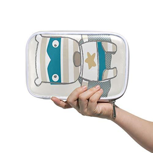 DEZIRO Make-up-Pinsel-Organizer, Superman-Cartoon-Welpen-Design, multifunktional, mit Netztasche für Reisen