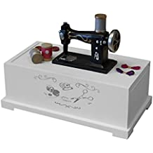 Caja de costura 22x17x12cm - Blanco