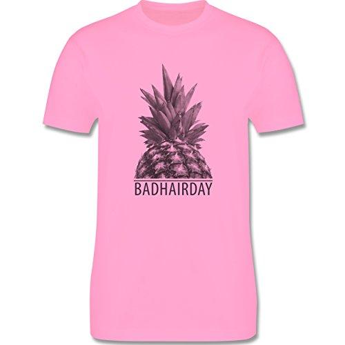 Statement Shirts - Badhairday - Ananas - Herren Premium T-Shirt Rosa