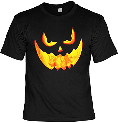 Halloween T-Shirt - Kürbis Fratze - gruseliges Shirt als lustige Alternative zum Halloween (Kostüm Monster Ideen Herren)