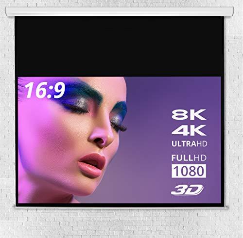 ULTRALUXX © Soft Return Beamer Leinwand Rollo-Leinwand | 321 cm (126 Zoll) Bilddiagonale | 280 x 157.5 cm Projektionsfläche | Rolloleinwand Format: 16:9 | Gesamtbreite: 298 cm