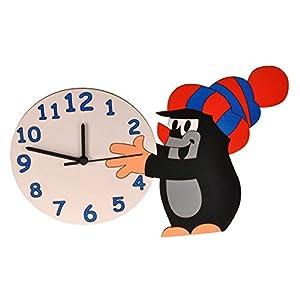 alles-meine.de GmbH Wanduhr Uhr – der kleine Maulwurf – Pauli – Kinderzimmer