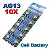[Kostenlose Lieferung] 10 X AG13 LR44 G13-A D303 L1154 L1154F Alkaline Cell Knopfzelle // 10 x AG13 LR44 G13-A D303 L1154 L1154F Alkaline Button Cell Battery