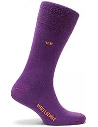VON FLOERKE handgekettelte Business-Socken / farbige Herrensocken / Smoking-Strümpfe aus ägyptischer Baumwolle / bunte Baumwollsocken ohne Naht