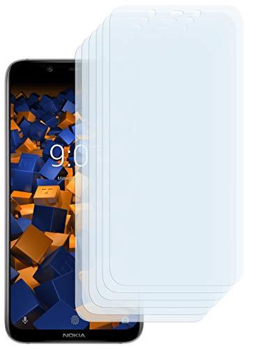 mumbi Schutzfolie kompatibel mit Nokia 8.1 2018 Folie klar, Bildschirmschutzfolie (6X)