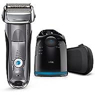 Braun Series7 7865ccElektrischer Rasierer / Rasierapparat (Reinigungsstation (Clean und Charge) und Reise-Etui, Elektrorasierer einsetzbar als Trockenrasierer und Nassrasierer (Wet und Dry)), grau