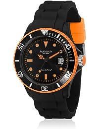 Madison New York Unisex-Armbanduhr Candy Time Blackline Neon Analog Quarz Silikon U4485-42