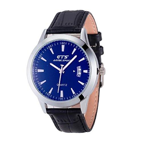 familizo-hombres-cinturon-calendario-relojes-negro