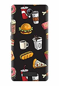 Noise Designer Printed Case / Cover for Lyf Wind 3 / Patterns & Ethnic / Food Frenzy