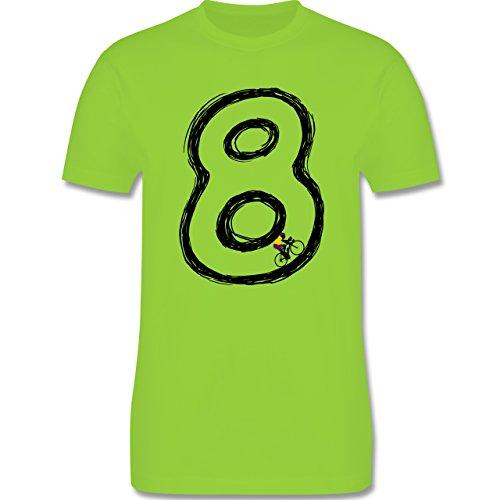 Radsport - Acht Rennrad Endlosschleife - Herren Premium T-Shirt Hellgrün
