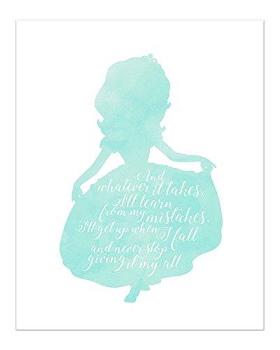 Disney Princess inspirierendes Zitat-Foto Drucken (8x 10) Poster-Sofia die Erste ()