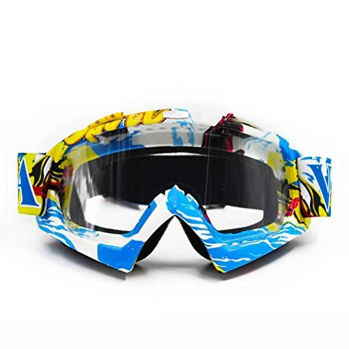 Motorrad Unisex Radsportbrille Schlagfestigkeit UV-Schutz Winddicht Sanddicht Explosionsgeschützte Brille Outdoor Off-Road Camping Gleitausrüstung