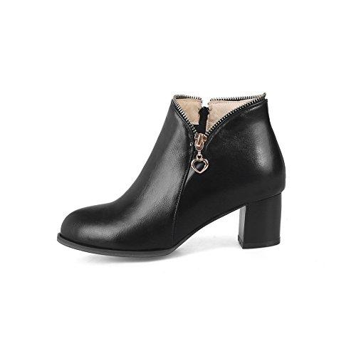 An Andku01684 - Sandales Compensées Noires Pour Femmes