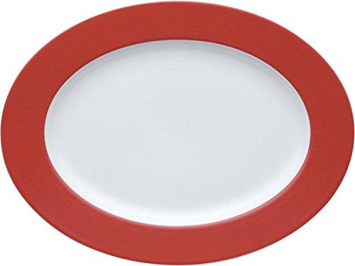 Thomas Grande Assiette Plate, Porcelaine, New Red / Rouge, 33 cm, 12733