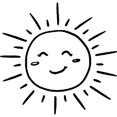 Azeeda A8 'Sonne' Stempel (Unmontiert) (RS00017000) (Gummi-stempel Sonne)