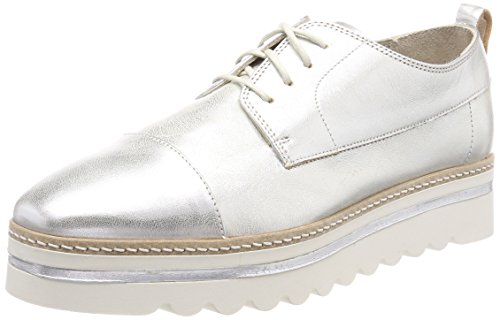 Marc O'Polo Damen Lace Up Shoe Oxfords, Silber (Silver), 37 EU Lace-up Oxford Schuhe