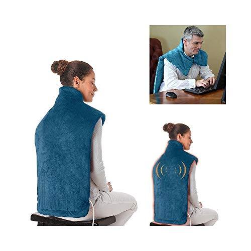 Trade shop traesio - coperta relief wrap con massaggio vibrante funzione riscaldante total relax