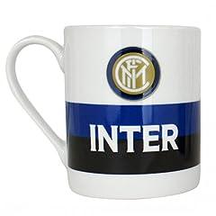Idea Regalo - Tazza Cilindrica Scritta Bianca Ufficiale F.C. Inter