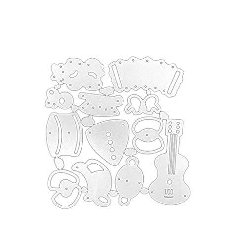 Hffan Metall Herz Form Stanzschablonen Metall Schneiden Schablonen Stanzformen Silber für DIY Scrapbooking Album, Schneiden Schablonen Papier Karten Sammelalbum Deko