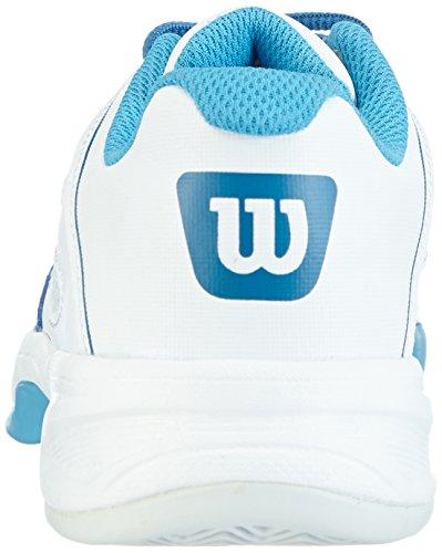 Wilson Rush Pro Junior, Baskets de tennis mixte enfant Multicolore - Mehrfarbig (Ice Gray / White / Demin)