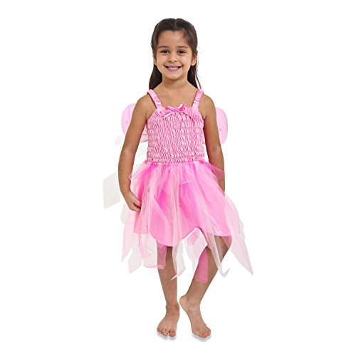 Lucy Locket - Abito da Carnevale da Fata per Ragazze - Rosa (7-8 anni)