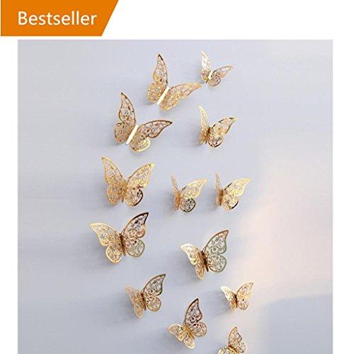 ... Hohlwandaufkleber Schmetterling Kühlschrank Für Heimtextilien Neu  Wandtattoo Wandaufkleber Sticker Wanddeko Für Schlafzimmer Wohnzimmer  Kinderzimmer (E)