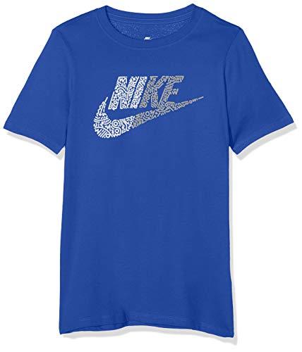 Nike Jungen Half Futura T-Shirt, Blau (Game Royal/White/480), Gr. M - Nike Blaues T-shirt