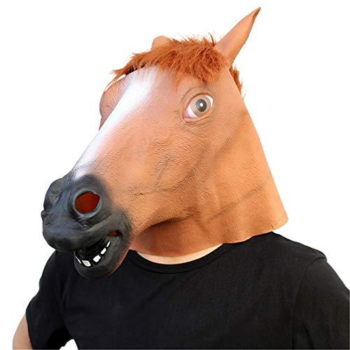 (Pferdekopf Spiel Lustige Party-Maske Halloween Dekoration Kostüm Maske Cosplay Volle Kopfmaske Latex Fire Wolf)