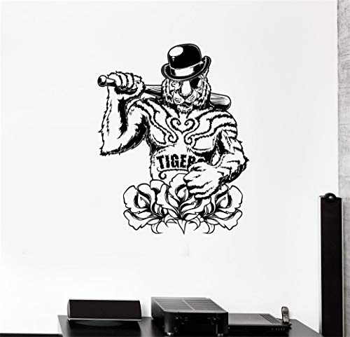 Wandkunst Aufkleber Aufkleber Worte Wand sagen Worte abnehmbare Wandbild Tiger Bandit Mafia Baseballschläger Waffe Power Animals