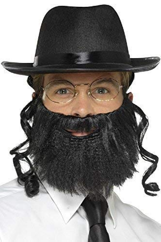 Jüdischer Rabbi Kostüm - Herren Damen Instant Rabbi Religiös Orthodoxe Jüdische Tv Buch Film Kostüm Kleid Outfit Zubehör Set