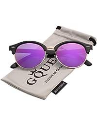 6ded9a4600cdf8 ... Femme   Accessoires   Lunettes et Accessoires   Lunettes de soleil    Violet. GQUEEN Lunettes de soleil à demi-cerclées demi-monture polarisées  GQO6