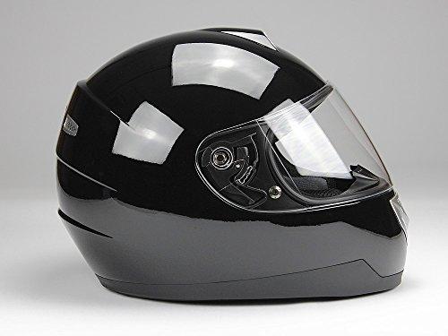 Integralhelm Motorradhelm Helm BNO F500 erschiedene Farben (XS,S,M,L,XL,XXL) (XXL, Schwarz glänzend) - 3