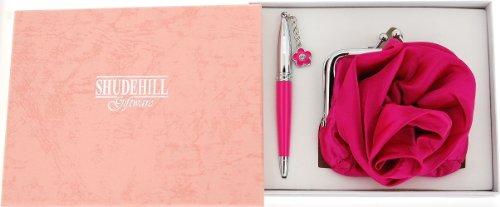 Hot Pink & Penna con cristalli, confezione regalo con portafoglio