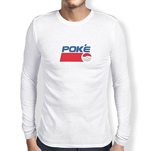 TEXLAB - Poke Soft Drink - Herren Langarm T-Shirt, Größe S, (Mann Pepsi Kostüm)
