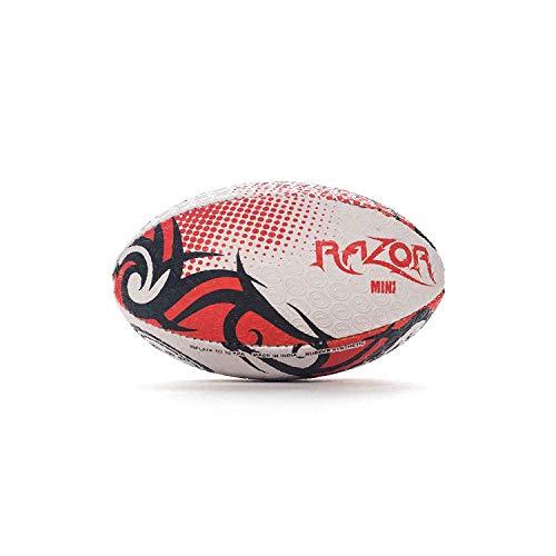 OPTIMUM Herren 's Razor Rugby Ball, Schwarz/Rot, Größe 4