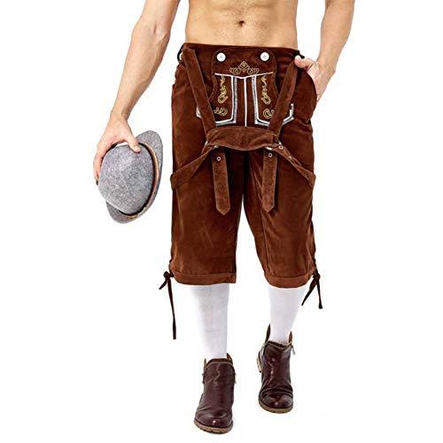 Für Herren Kostüm Lederhosen Oktoberfest Erwachsene - Erwachsene Oktoberfest Leatherhouse Style Hose Herren Bayerischen Beer Festival Kostüm Braun XL