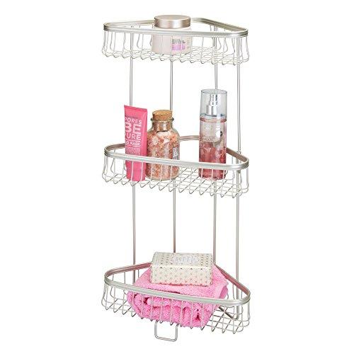 mDesign Estantes para ducha – Prácticas baldas para baño con 3 niveles...