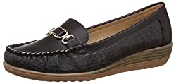 Addons Womens Black Loafers and Mocassinss - 3 UK/India (36 EU)