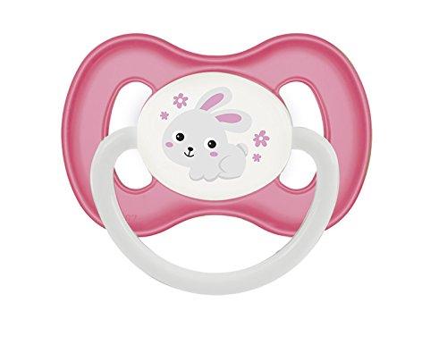 Canpol Kirschform Beruhigungssauger Latex Bunny & Company (Pink, 6-18 M)