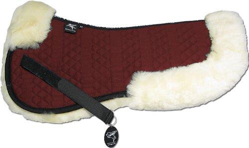 ENGEL GERMANY Demi-Chabraque DE LUXE en peau de mouton couleur coton rouge (Sakis 2) Combinez-vous avec 12 coleur de peau de mouton