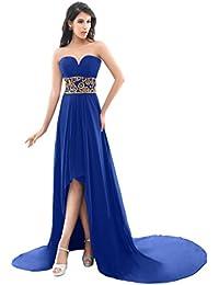 Sunvary de Gasa alto bajo vestidos para Noche Prom con Sexy parte trasera abierta