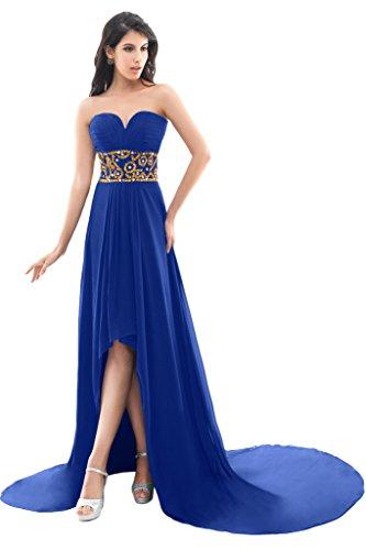 Sunvary Trailing chiffon alto basso vestiti per sera o con sexy apertura posteriore Royal Blue