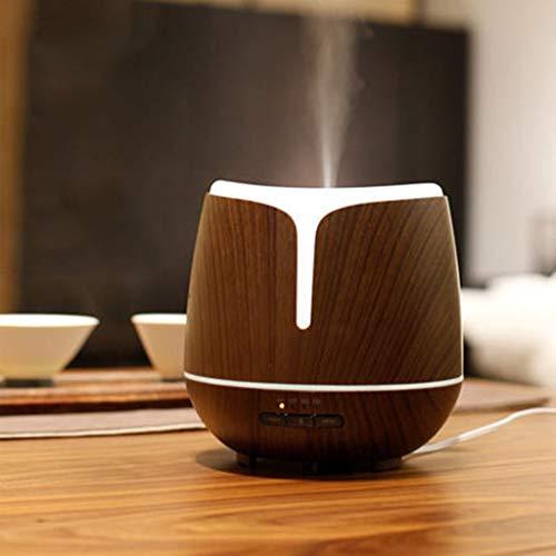 YFQ 300ml Holzmaserung Ätherisches Öl Diffusor Ultraschall Aroma Luftbefeuchter Schlafzimmer Spray Plug-in Automatische Induktion Duftlampe Öllampe