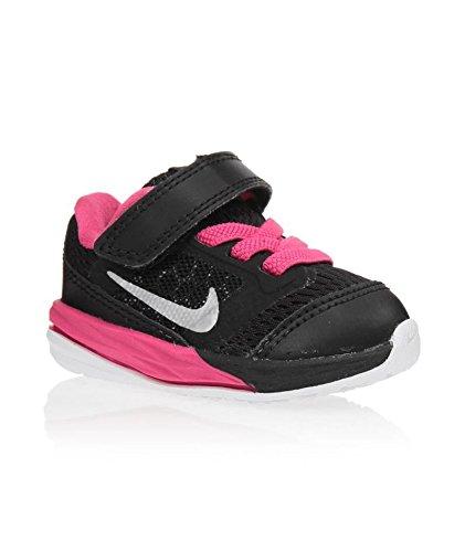 NIKE Kids Fusion (TDV) Running Shoe (10 M US Toddler, Black/Metallic Silver/Vivid Pink) - Nike Kids Fusion