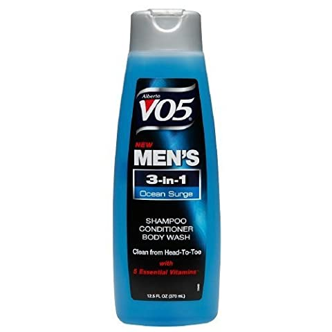 Alberto VO5 Mens 3-IN-1 Shampoo, Conditioner & Body Wash, Ocean Surge12.5 fl oz (Pack of 3) by Alberto VO5