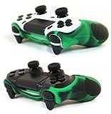PAXO 2 x PS4 Silikon Schutzhülle Grün-schwarz/Playstation 4 Controller Sleeve Bundle