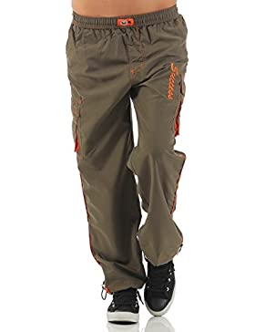 SUCCESS Jungen Cargo Hose Sport Wear Knaben Chino Stoff Hose 5 Pocket Regular Fit Freizeithose