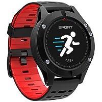 Kktick F5Mondial GPS Fitness Band altimètre Baromètre Thermomètre montre de sport Fitness tracker d'activité–Rouge