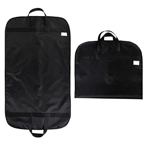 Stabiler Kleidersack,Atmungsaktiver Reise Kleidersack mit Tragegriffen und Druckknopfverschlüssen - schwarz - 60 cm * 100 cm