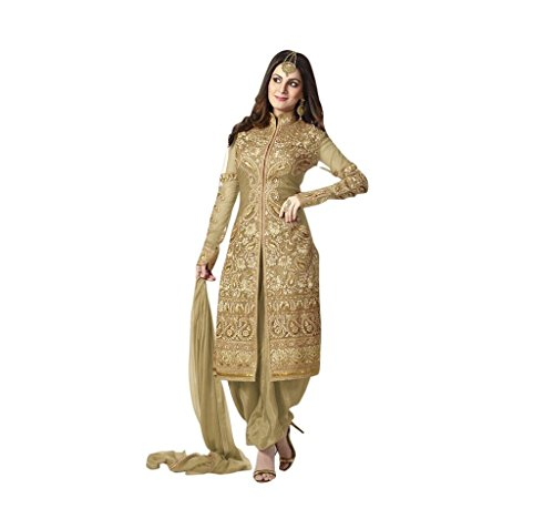 Fab Fiona Gold Georgette Party Wear Salwar Kameez